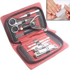 9in1 Nail Art Clipper Pedicure Manicure Tweezer Cutter Earpick Tool Set -21