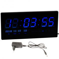 JUMBO Electric Digital LCD LED Alarm Table Wall Desk Night Clock Thermometer - 244