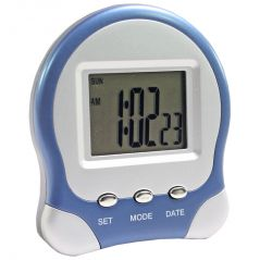 DIGITAL LCD ALARM TABLE DESK Calendar CLOCK TIMER STOPWATCH - A25