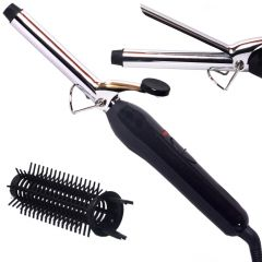 1.5 inch Hair Care Curler Curl Curling Iron Rod Brush Styler Straightener 40W (Code - HR CR 12 A)