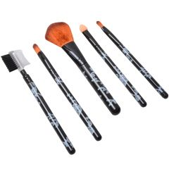 5 Pcs Luxurious Functional Make up Brush Cosmetic Set Kit Case (Code - MK BR 05 A)