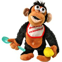 Crying Monkey - Don't take his Banana! -Electronic Stuffed Toy Toys Kids Gift (Code - JM NR TY 13)