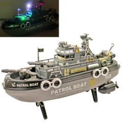 26.6cm Radio Control RC Racing Kids Toys Patrol Boat Gift Remote Car - R33