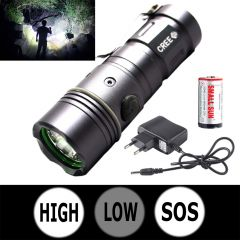 Mini 3 Mode Rechargeable 250M CREE LED Waterproof Flashlight Light Torch (Code - JM TR CH 48)
