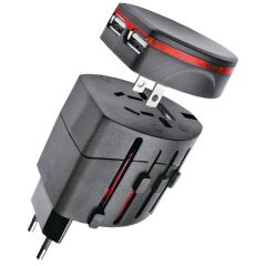 Universal Travel Power AC Adapter Plug with USB Charger AU/US/UK/ EU (Code - UN AD 04 A)
