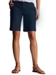 Ladies Navy Blue Bermuda Shorts