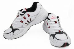 Shop or Gift Fuzion Running Sports Shoes White / Black / Red BP-01 B Running Shoes Online.