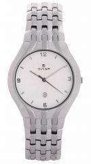 Titan - 1406sca Men's Watch Silver Metal White Dial - Titan Watches