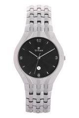 Titan - 1406sca Men's Watch Silver Metal - Titan Watches