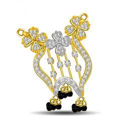 Surat Diamond Very Playful 0.52ct Diamond Mangalsutra Pendant For Her DN345