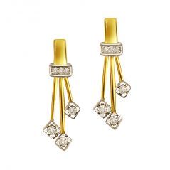 Surat Diamond Triple Planted Studs Diamond Earrings ER113