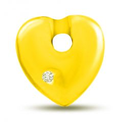 "Surat Diamond You""re My Sunshine Yellow Gold Diamond Heart Pendant P1074"