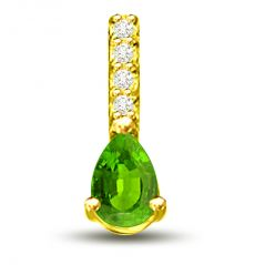 "Surat Diamond Fairy""s Touch 0.31 TCW Emerald And Diamond Pendant In Yellow Gold P1149"