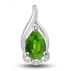 Surat Diamond Queen Of Emerald 1.09 TCW Emerald And Diamond Pendant In 14kt Gold P1170