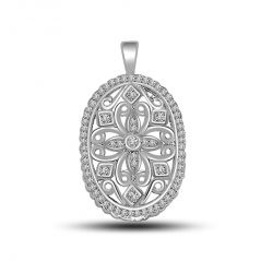 Surat Diamond Majestic - Diamond & White Gold Pendant P1242