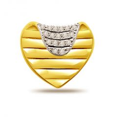 Surat Diamond 0.34ct Heart Shape Diamond Pendant P493