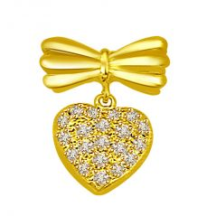 Surat Diamond 0.25 cts Heart Shape Diamond Pendant P788