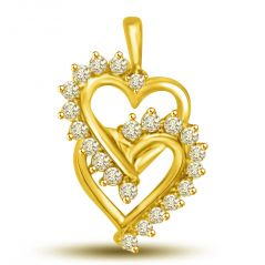 Surat Diamond 0.22 cts Heart Shape Diamond Pendant P939