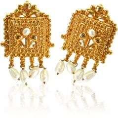 Surat Diamond Night Star Pearl Earrings  SE61