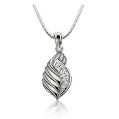 Surat Diamond Bunches Of Love - Real Diamond & Sterling Silver Pendant With 18 Inch Chain