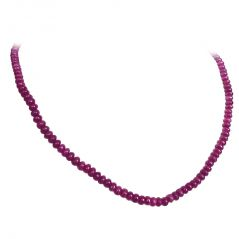 Surat Diamond Single Line Red Ruby Necklace SN429 SN429