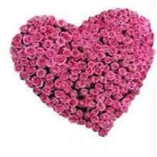 Flower Arrangements - Heart Shape Roses Bouquet