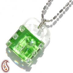Lock and Key Crystal Pendant