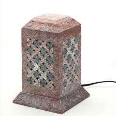 Pillar Shaped Stoneware Night Lamp