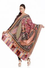 Multicolor Woolen Shawl With Rich Designs And Colors