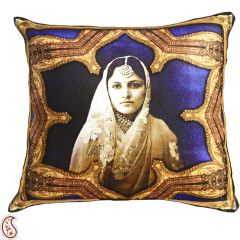Rajastani Queen Digital Print Poly Velvet Cushion Covers