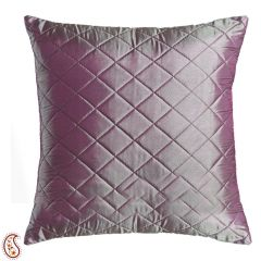 Mauve Pink Quilted Poly Silk Decorative Cushion Cover Set