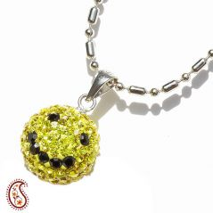 Yellow Smily Swarovski Crystal Pendant