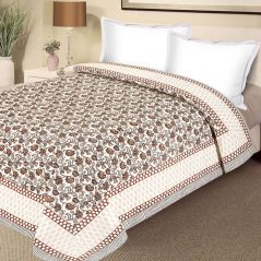 Pure Cotton Double Bed Razai with floral motifs