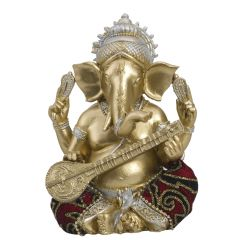 Elegant & Beautiful Gold Finish Ganesha Idol Showpiece