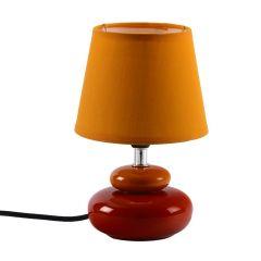 Yellow Fabric Shade Ceramic Base Table Lamp