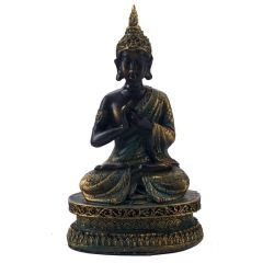 Black & Gold Finish Beautiful Buddha Showpiece