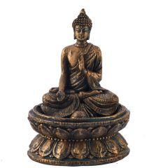 Golden Brown Finish Lovely Buddha Showpiece