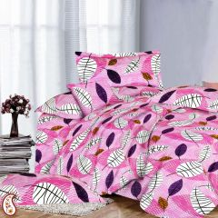 Cotton & Satin Pink Double Bed sheet Set