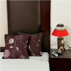 Violet Maroon Pure and Tusser Silk Cushion Cover s