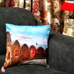 Jaigarh Fort of Jaipur Velvet Cushion Cover