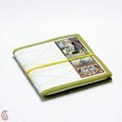 Paper Weights - Miniature Diary with Traditional Art Print on Hand