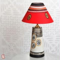 An Elegant Hand Painted Lampshade In Terracotta - Welcome Home Wednesdays