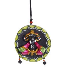 Multicolor Terracotta Wall Plate Showpiece