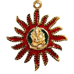 Sun God -Ravi Golden Finish Metal Door Hanging