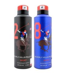 Pack Of 2 Beverly Hills Polo Club Deodorants For Men 175 Ml Each