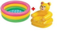 Intex Super Combo Bog Bag,baby Pool And Teddy Chair