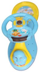 Mankoose Rider Baby Push Rider Car With Music & Light Comfort Blue & Yellow