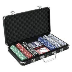300 Chips Poker Game Casino Set