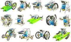 New Amazing 14 In 1 Educational Solar Robot Kit