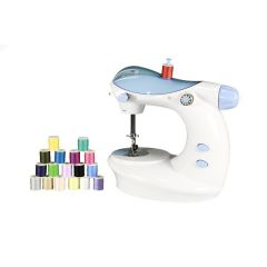 Portable Mini Electric Double Stitch Sewing Machine With Thread Set